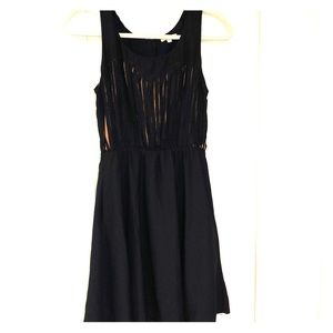 Gianni Bini black dress with copper details
